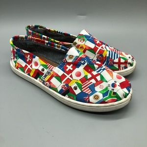 Toms kids classics flags of the world flats shoes